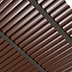 wood-effect venetian blinds 50mm