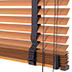 wood-effect venetian blinds 35mm